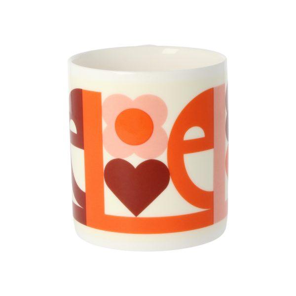 Orla Kiely Pink Love Mug-3307