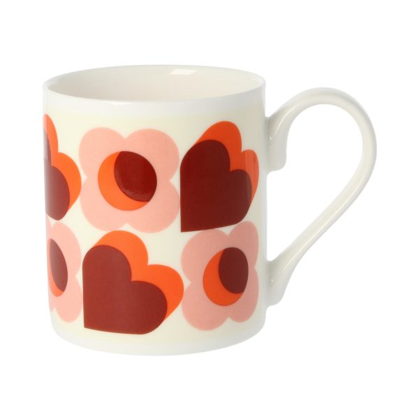 Orla Kiely Pink Hearts Mug-3311
