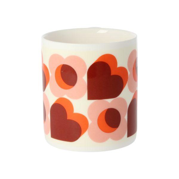 Orla Kiely Pink Hearts Mug-0
