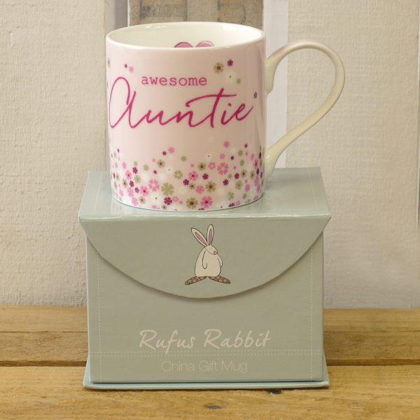 Rufus Rabbit Awesome Auntie Mug-0