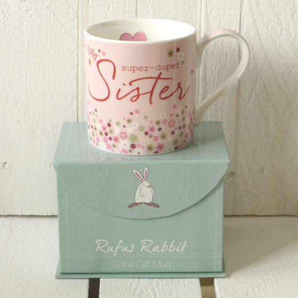 Rufus Rabbit Super Duper Sister Mug Gift Boxed-0