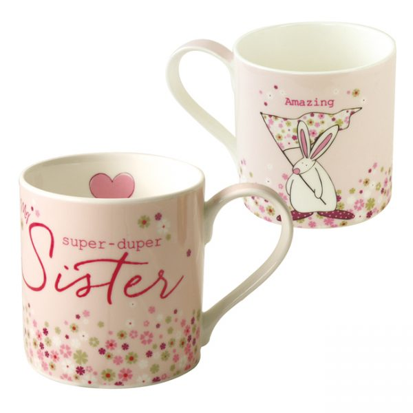 Rufus Rabbit Super Duper Sister Mug Gift Boxed-3366