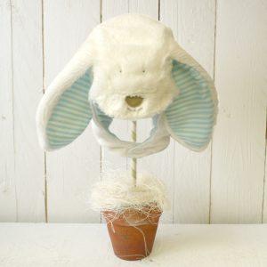 Rufus Rabbit Baby Boy Fluffy Bonnet Hat-0