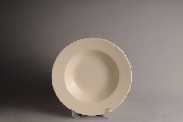 Hartley Greens & Co Leeds Pottery Hunslet Plain Soup Dish -0