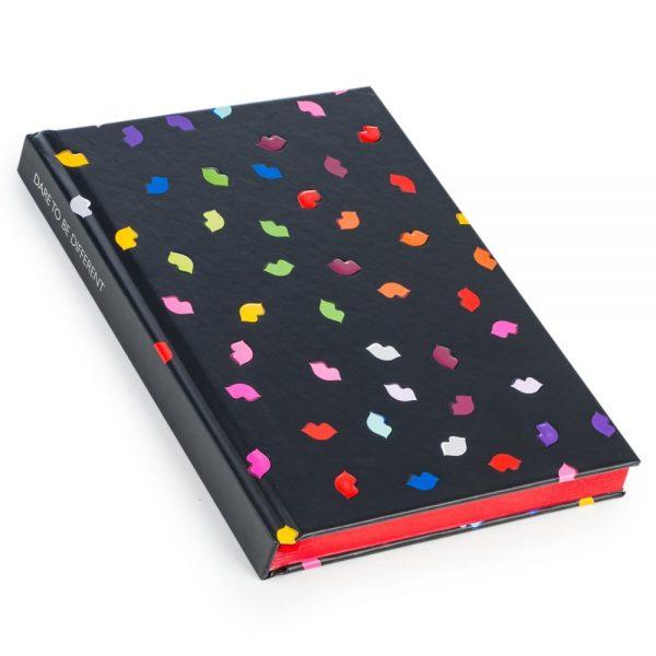 Lulu Guinness Multi Lips A5 Notebook-0