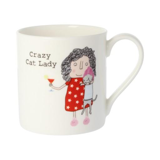 Rosie Made A Thing Crazy Cat Lady Quite Big Mug-0