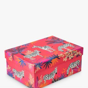 Sara Miller Tropical Zebras Large Gift Box-0
