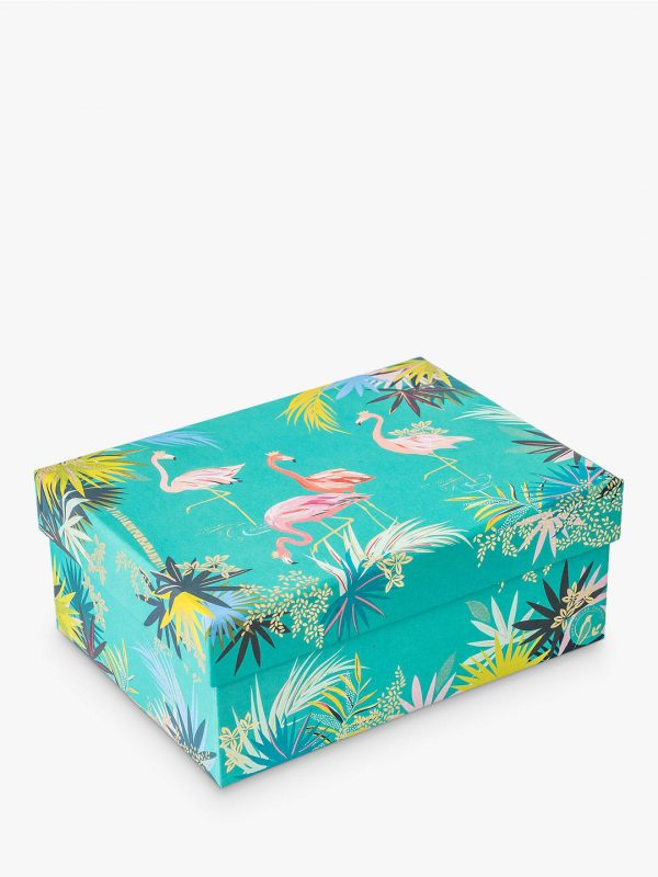 Sara Miller Tropical Flamingo Medium Gift Box -0