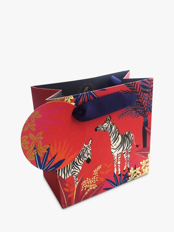 Sara Miller Tropical Zebra Small Gift Bag-0