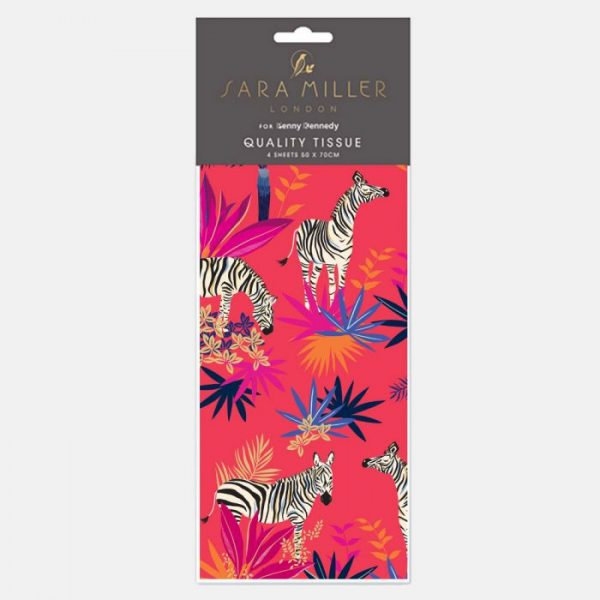 Sara Miller Tropical Zebra Tissue Paper -0