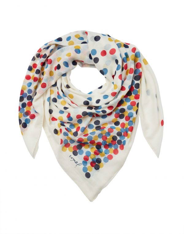 Joules Cream Spot Atmore Scarf-3479