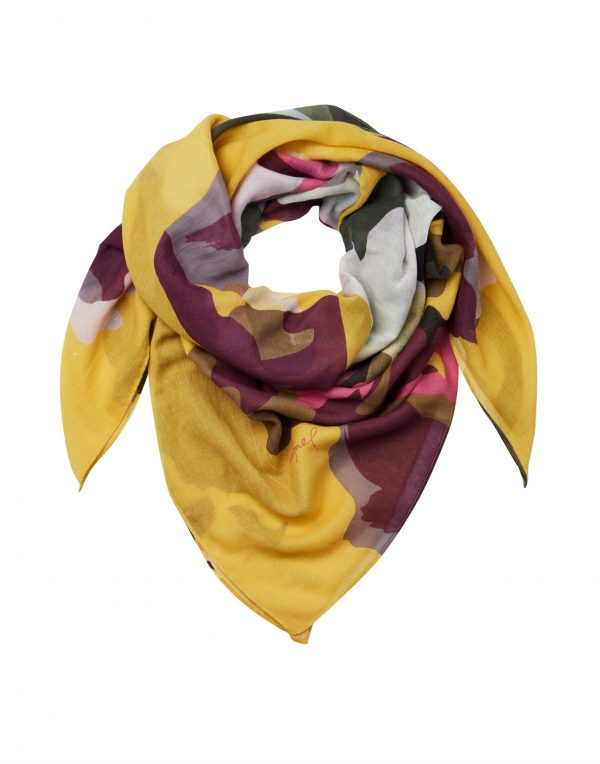 Joules Gold Floral Atmore Scarf-3475