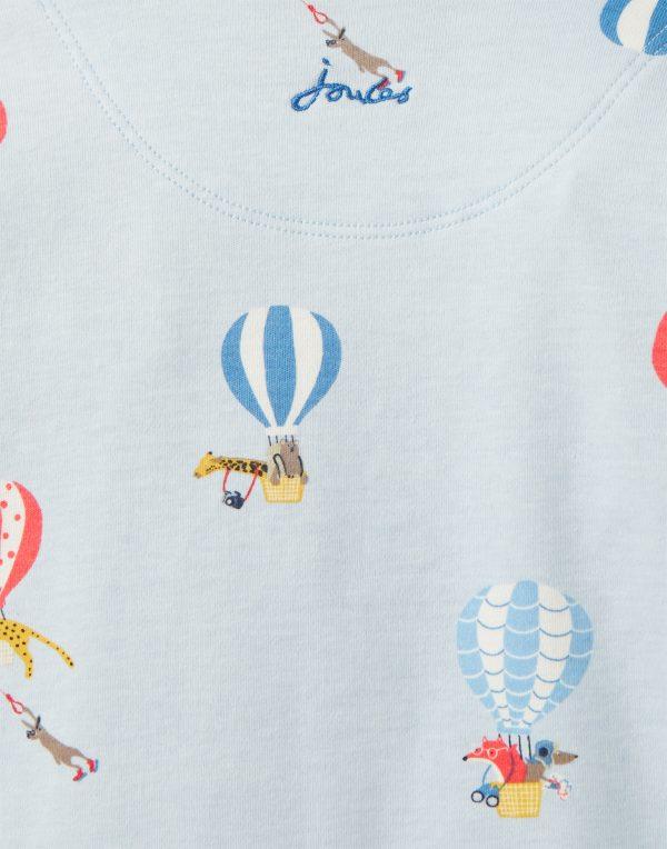 Joules Baby Boy Blue Balloons Babygrow -3497