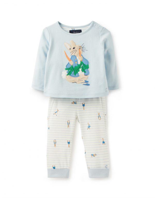 Joules Baby Peter Rabbit Blue Top & Trouser Set-0