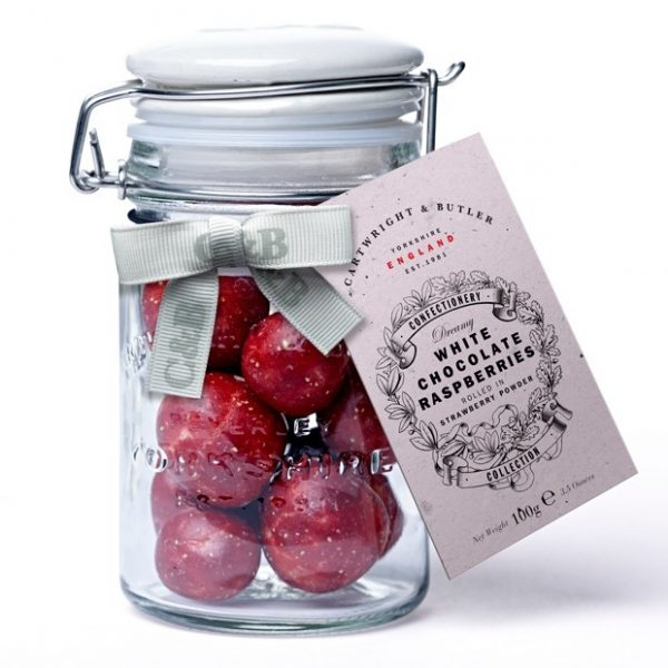 Cartwright & Butler Raspberries in White Chocolate & Strawberry Powder-0