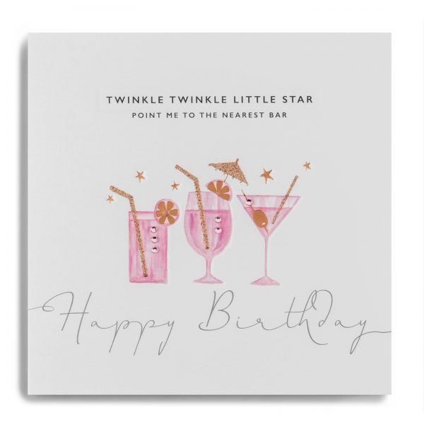 Janie Wilson Happy Birthday Bar Cocktails Card-0