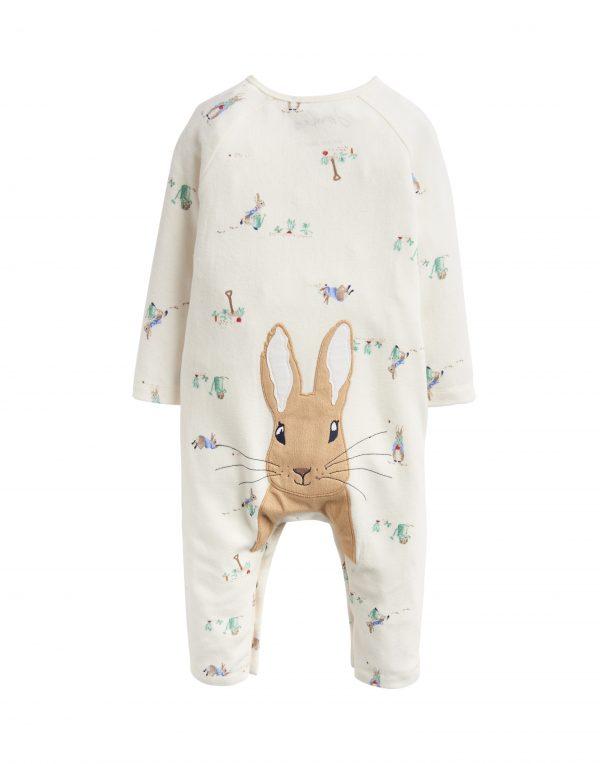 Joules Peter Rabbit Giggle Babygrow & Hat Set, Cream-3582