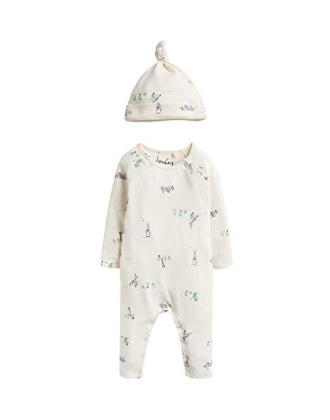 Joules Peter Rabbit Giggle Babygrow & Hat Set, Cream-0