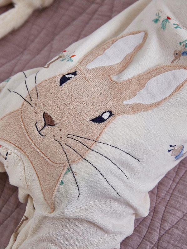Joules Peter Rabbit Giggle Babygrow & Hat Set, Cream-3587