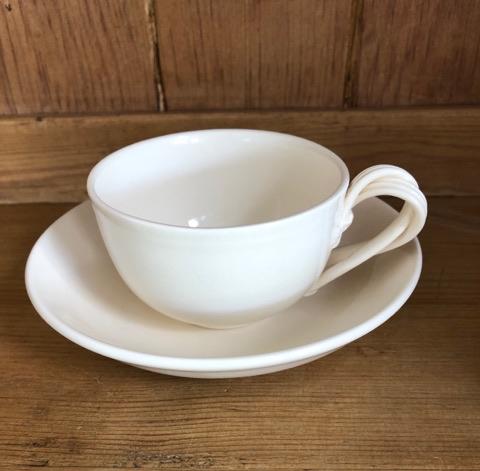 Hartley Greens Leeds Pottery Tea Cup & Saucer-0