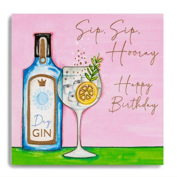 Janie Wilson Happy Birthday Gin Card-0