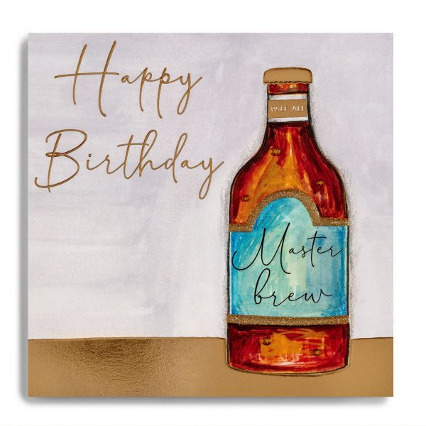 Janie Wilson Happy Birthday Bottle of Ale Card-0