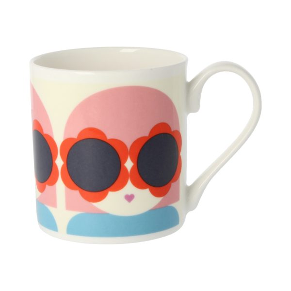 Orla Kiely Lola Red & Blue Mug -0