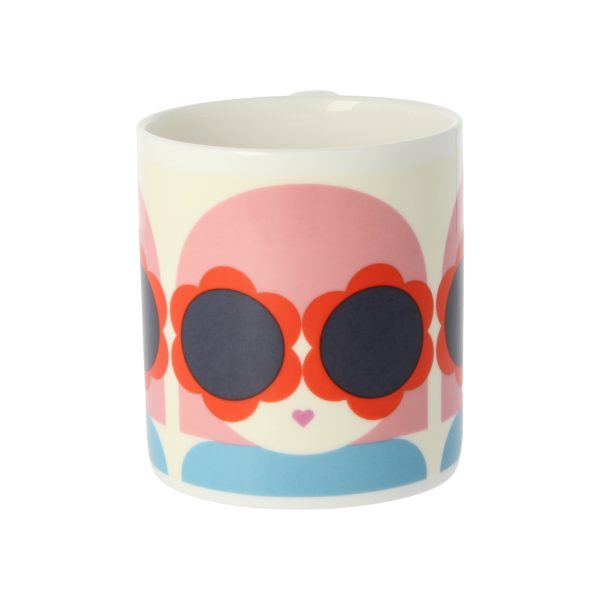 Orla Kiely Lola Red & Blue Mug -3511