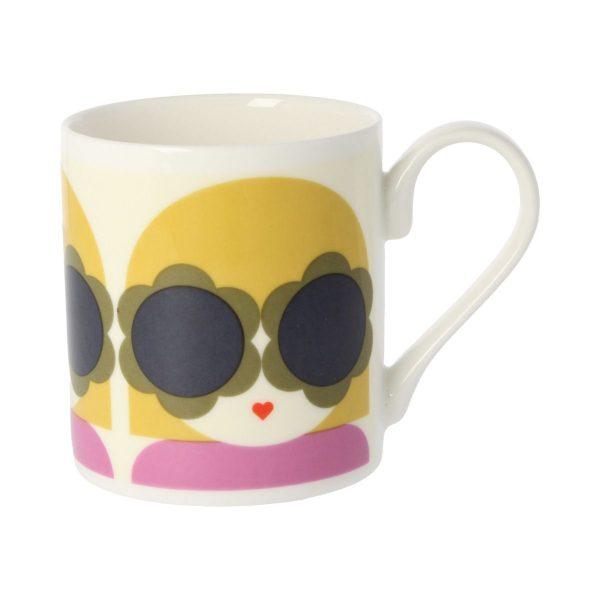 Orla Kiely Lola Yellow & Purple Mug-0