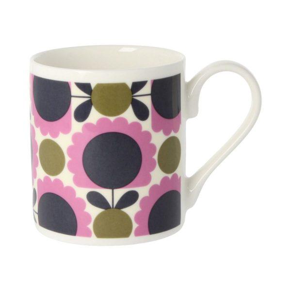Orla Kiely Scallop Flower Spot Purple & Olive Mug-0