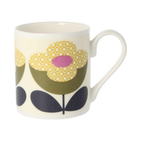 Orla Kiely Buttercup Stem Olive & Yellow Mug-0