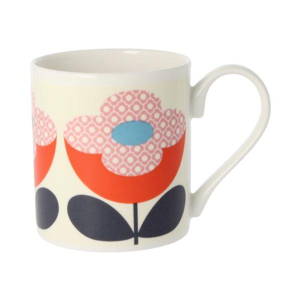 Orla Kiely Buttercup Stem Red & Pink Mug-0