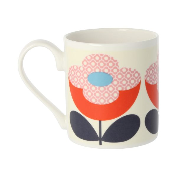 Orla Kiely Buttercup Stem Red & Pink Mug-3517