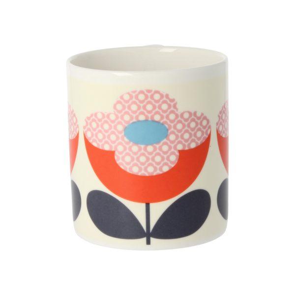 Orla Kiely Buttercup Stem Red & Pink Mug-3519