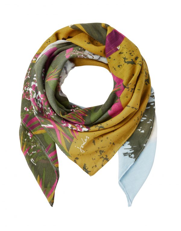 Joules Blue Location Atmore Printed Scarf-3633