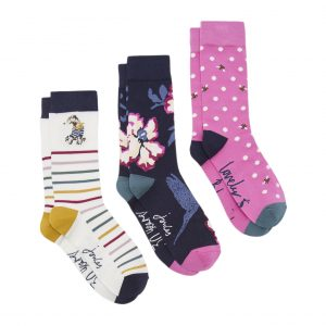 Joules 30th Anniversary Bamboo 3 Pack Floral Socks-0