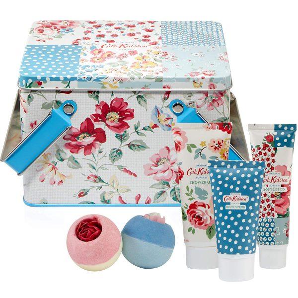Cath Kidston Cottage Patchwork Pamper Picnic Tin Gift Set -0
