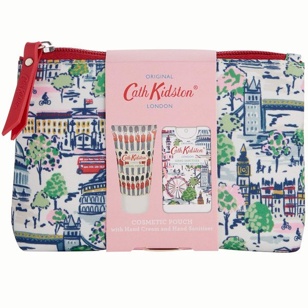 Cath Kidston London View Cosmetic Pouch Gift Set, Hand Cream & Hand Sanitiser-3651