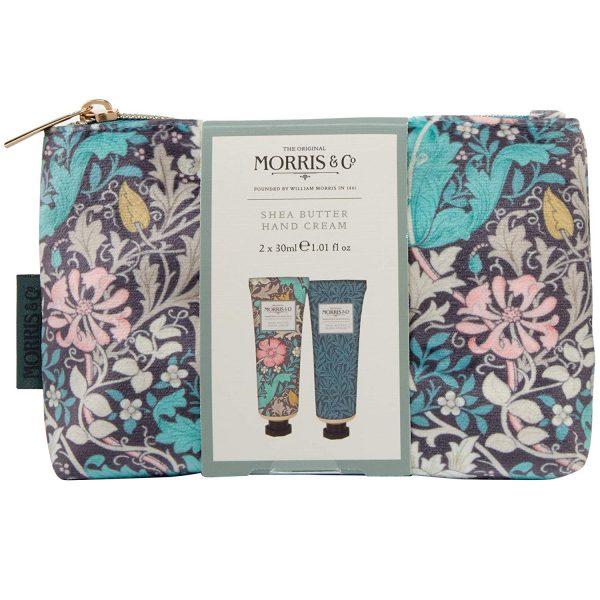 William Morris Pink Clay & Honeysuckle Hand Care Bag, Hand Cream x 2-0