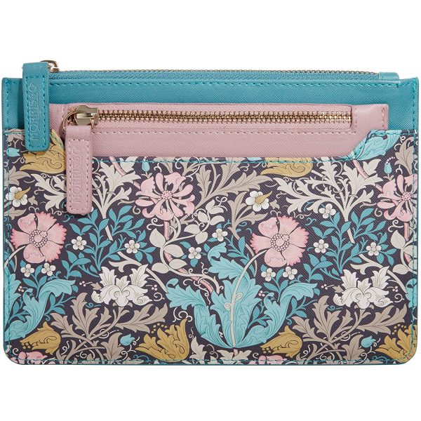 William Morris Pink Clay & Honeysuckle Travel Wallet & Coin Purse-0