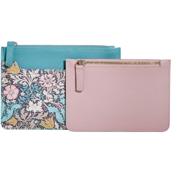 William Morris Pink Clay & Honeysuckle Travel Wallet & Coin Purse-3669