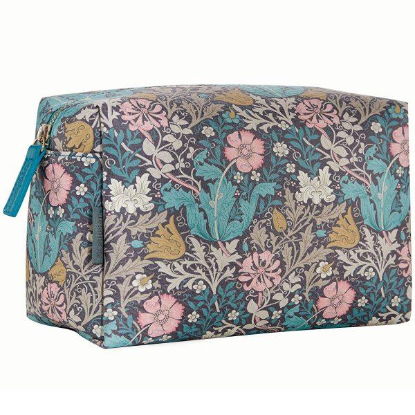 William Morris Pink Clay & Honeysuckle Large Wash Bag-0
