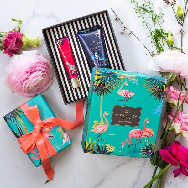 sara miller hand and lip gift set