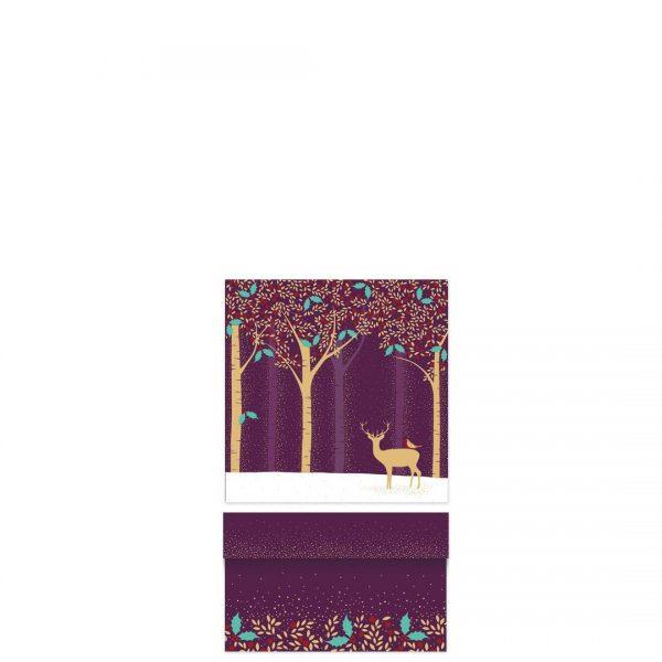 Sara Miller Luxury Deer & Robin Purple Small Gift Box -0