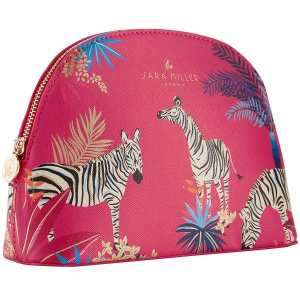 Sara Miller Zebra Pink Medium Cosmetic Bag-3668