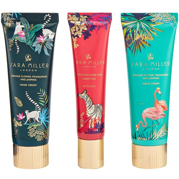 Sara Miller London Tahiti Beauty Cracker, 2 Hand Cream, 1 Lip Gloss-3658