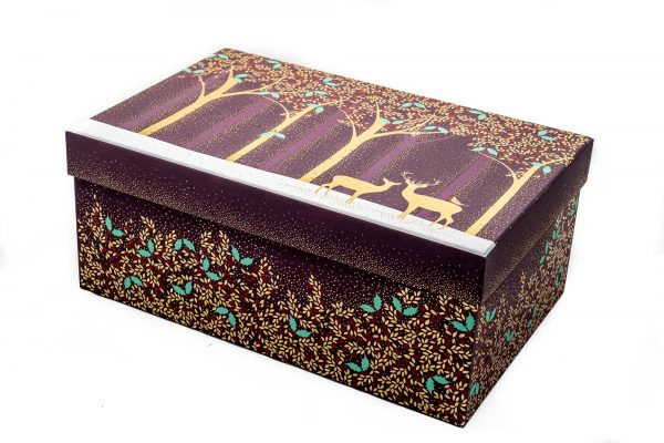 Sara Miller Gold Deer Large Gift Box -0
