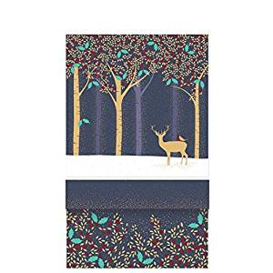 Sara Miller Luxury Deer & Robin Blue Medium Gift Box -0