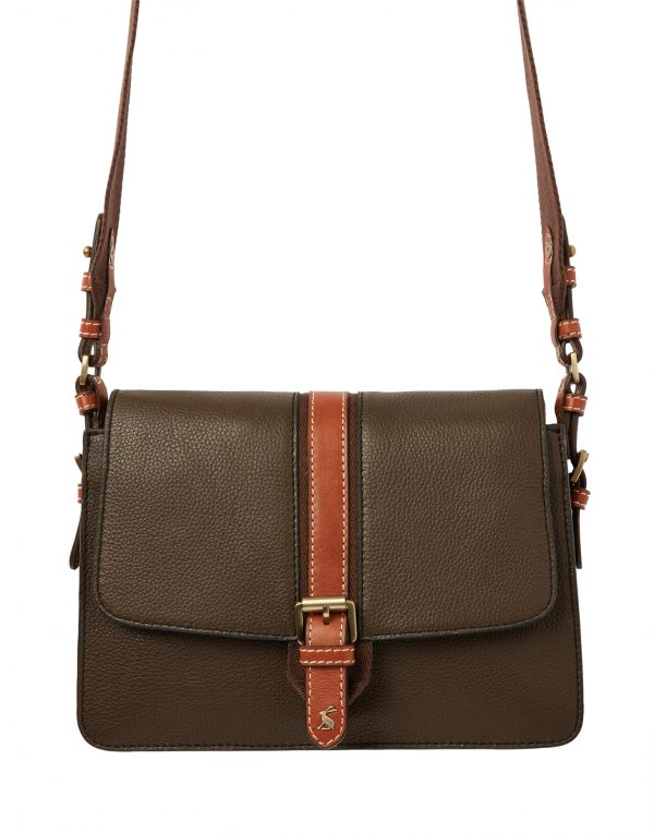 Joules Wimbourne Carriage Leather Cross Body Bag, Khaki Green-3769