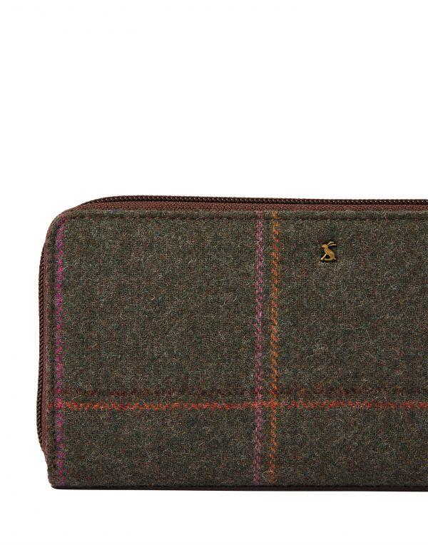 Joules Fairford Dark Green Tweed Purse -3779